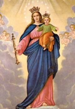 Znalezione obrazy dla zapytania obraz matki bożej wspomożycielki wiernych