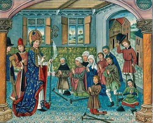 Święty German z Paryża błogosławi chorych