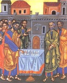 Apostołowie rzucają losy między Józefem a Maciejem