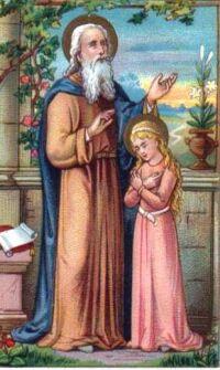 Święty Joachim z Maryją