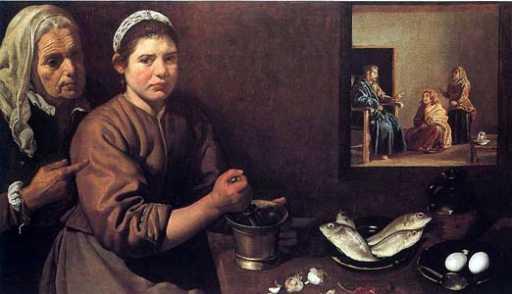 Diego Velazquez: Chrystus w domu Marty i Marii