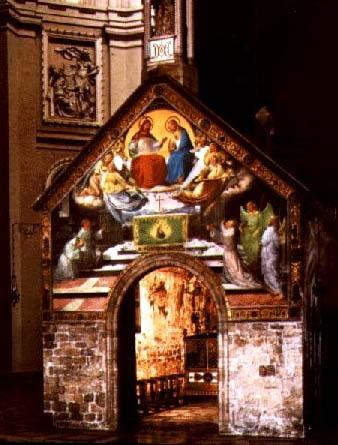 Porcjunkula we wnętrzu Bazyliki MB Anielskiej