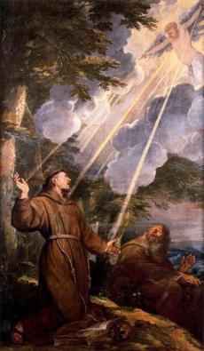 Święty Franciszek z Asyżu otrzymuje stygmaty
