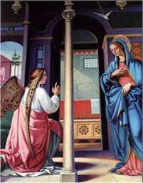 Archanioł Gabriel zwiastuje Maryi wolę Bożą
