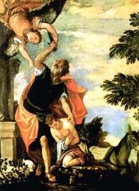 Abraham składa ofiarę z Izaaka